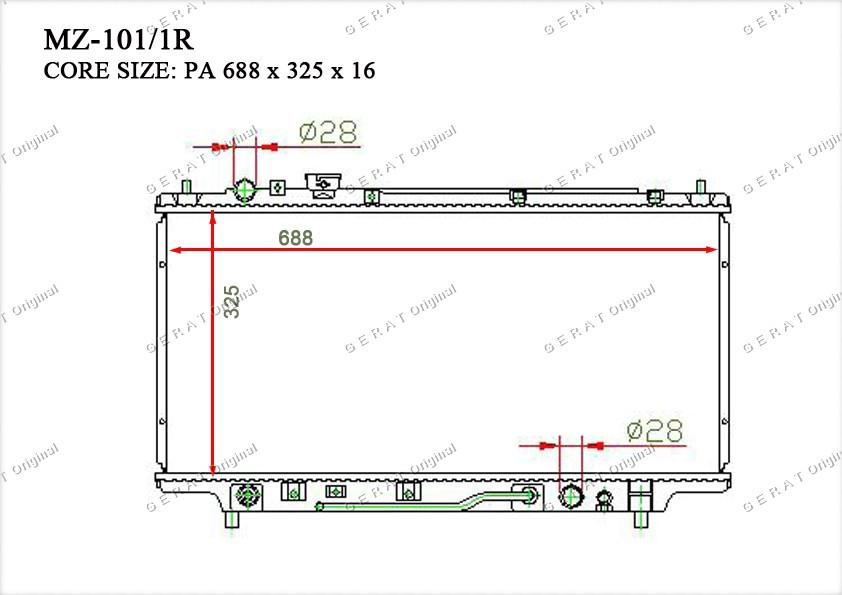 Радиатор основной TCR-0016/2R