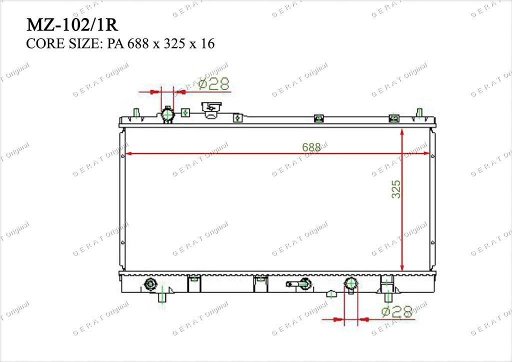 Радиатор основной TCR-0017/2R