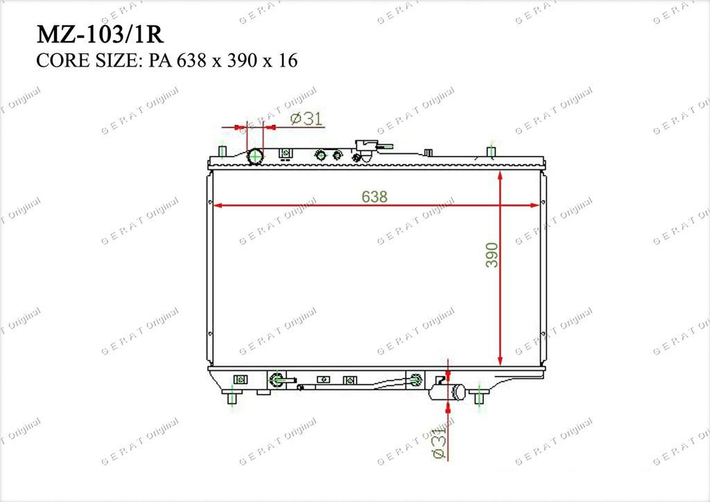 Радиатор основной B55715200B
