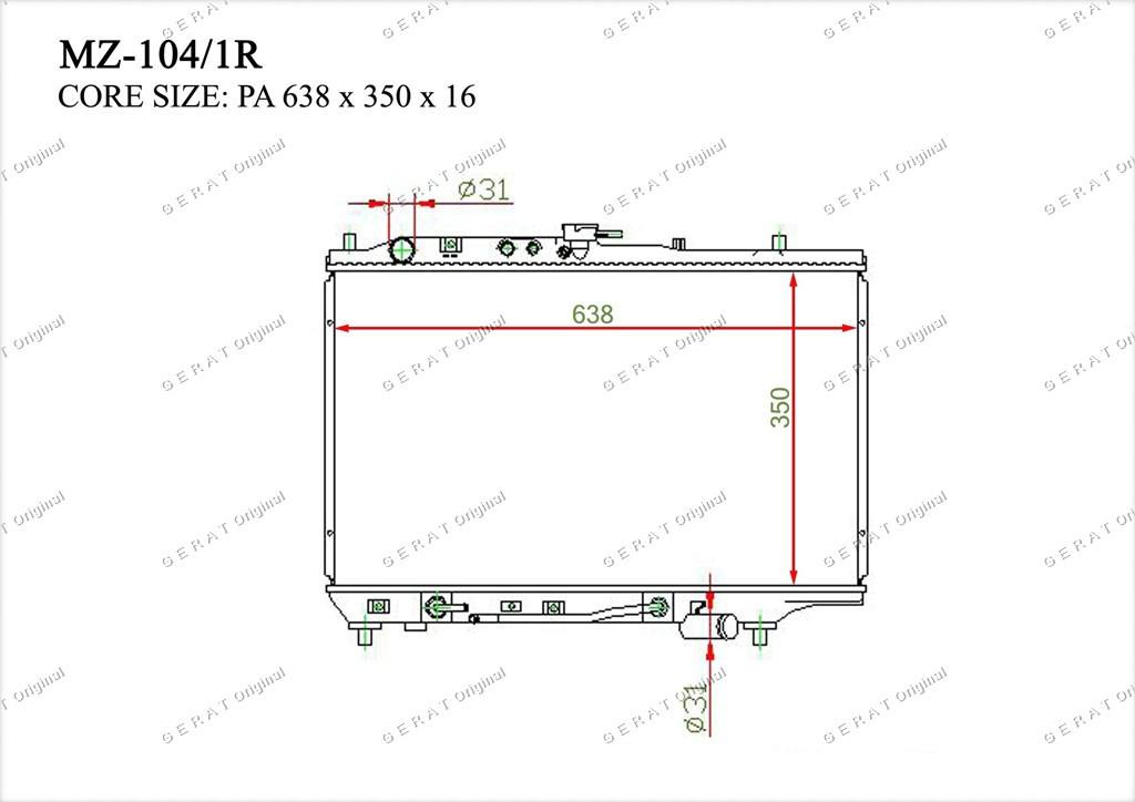 Радиатор основной B54715200A