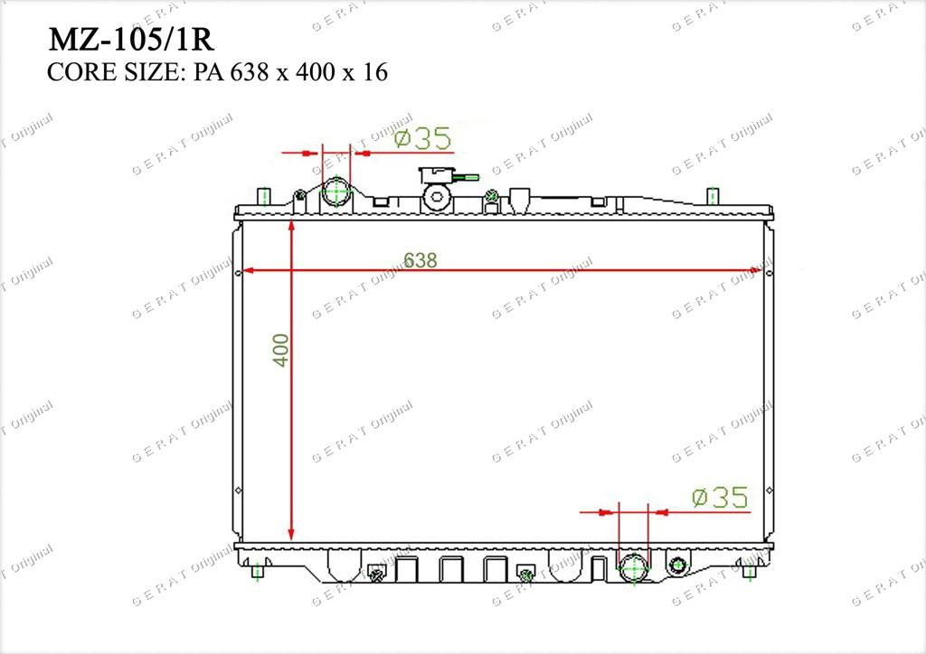 Радиатор основной TCR-0018/2R