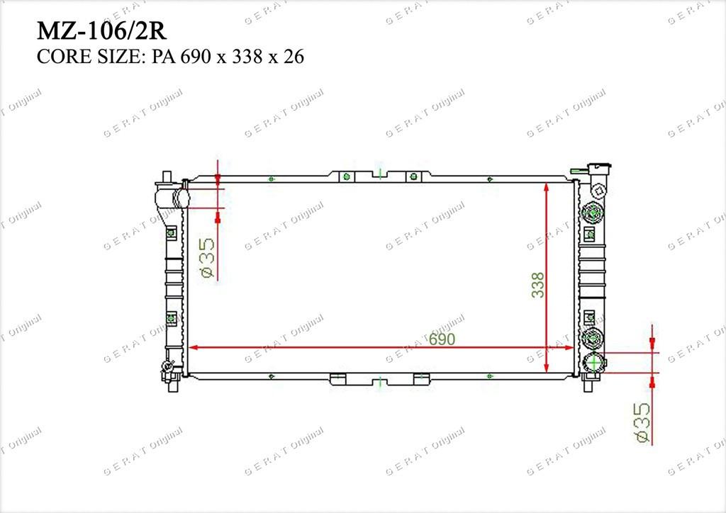 Радиатор основной TCR-0019/3R