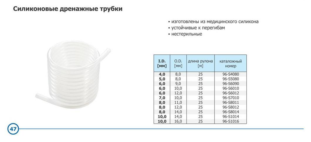 Трубка силиконовая для дренажа 6,0/9,0мм, 25 метров - фото 3