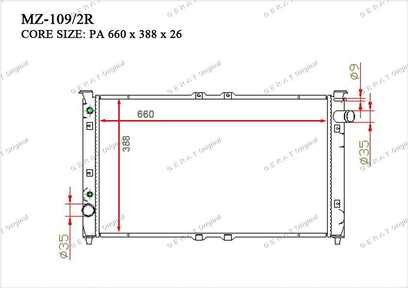 Радиатор основной KL4715200A