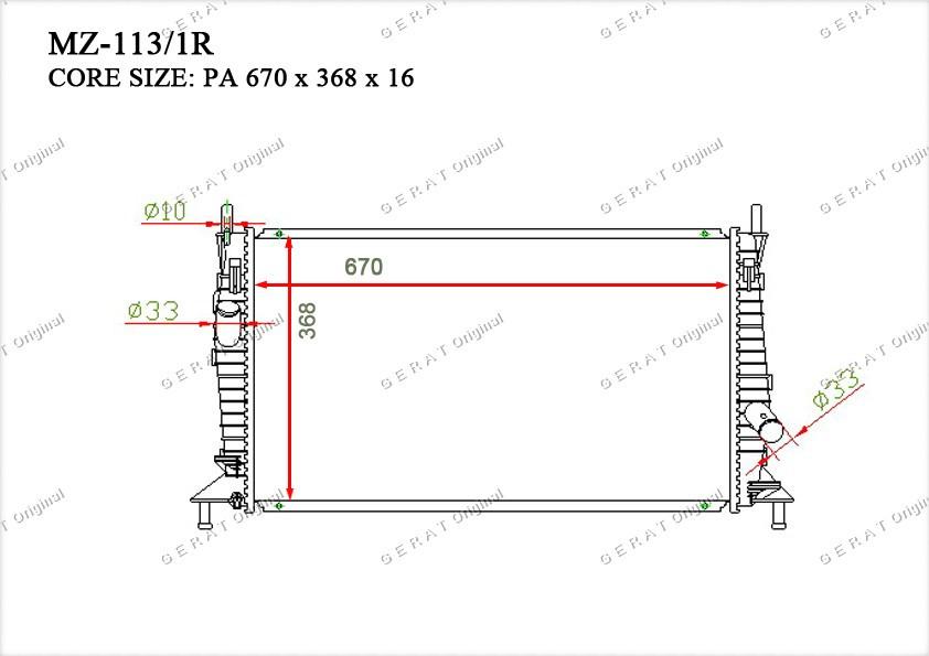 Радиатор основной Y20115200D