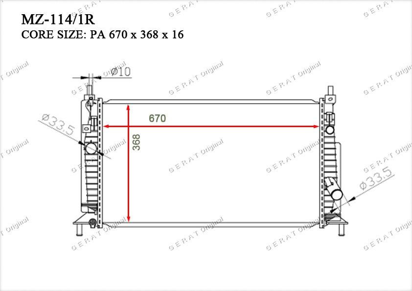 Радиатор основной Z6681520Y