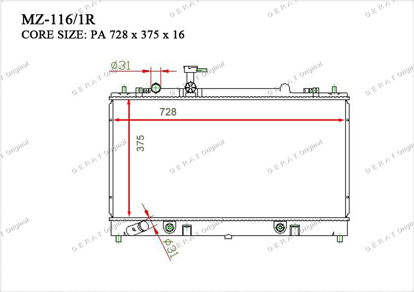 Радиатор основной L32215200E