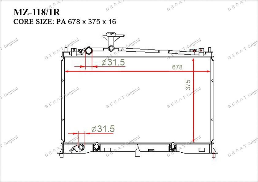 Радиатор основной LF2115200