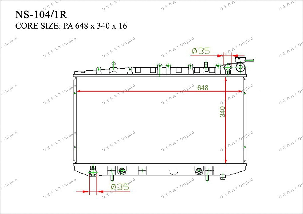 Радиатор основной TCR-0027/2R