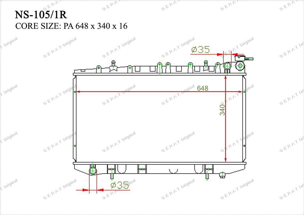 Радиатор основной 2141062J00