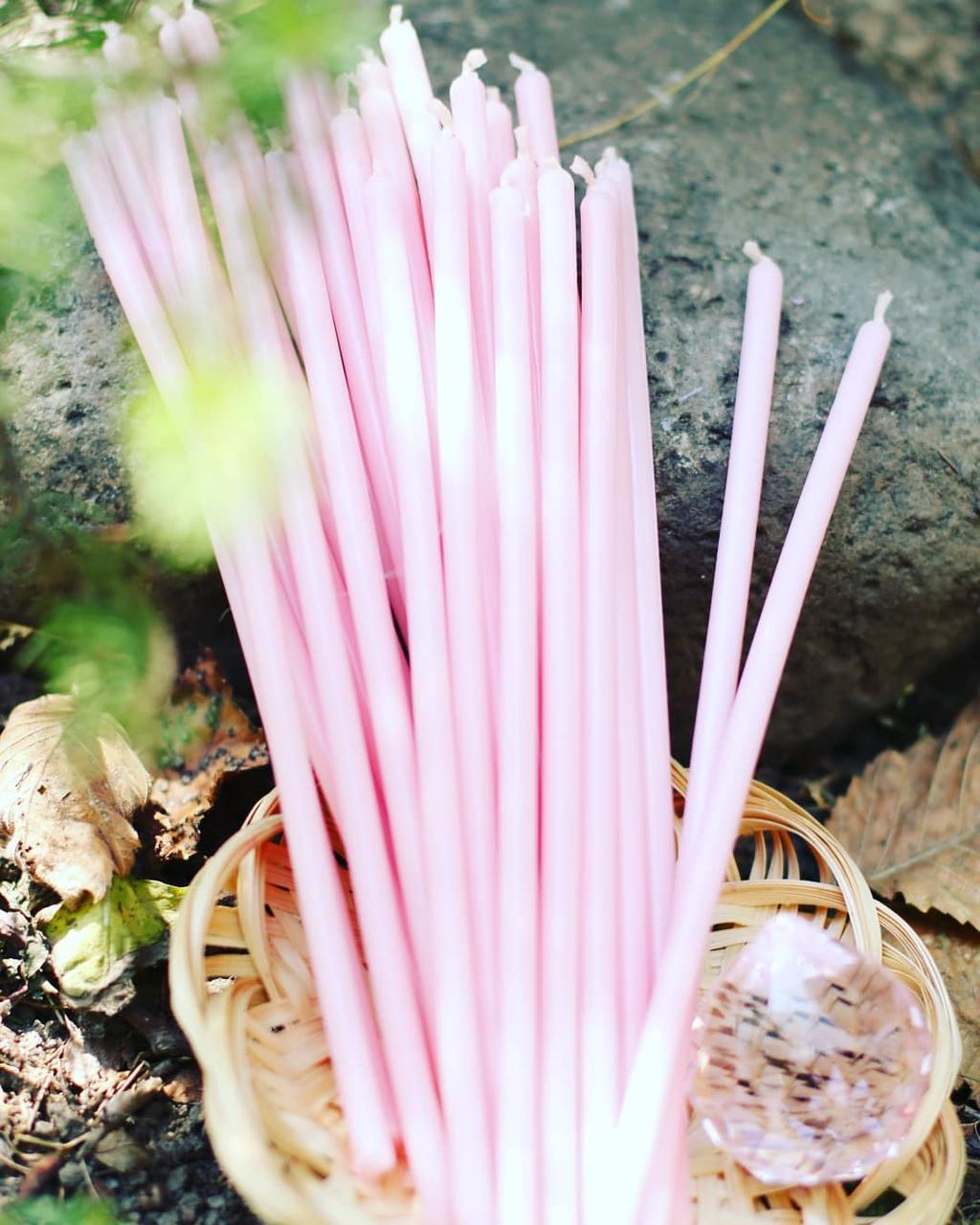 Свеча восковая Розовая