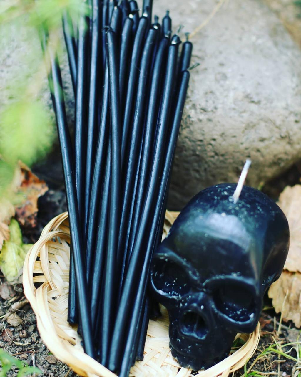 Свеча восковая Черная