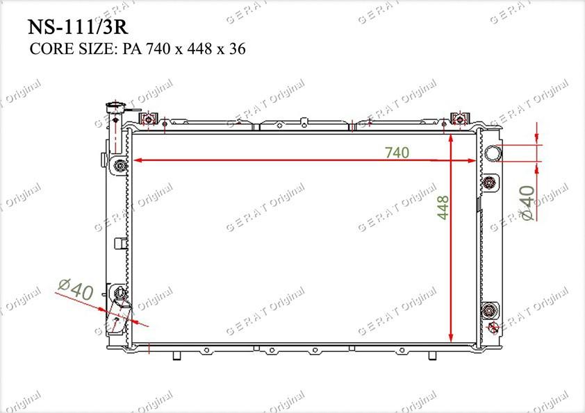 Радиатор основной 2140020J00