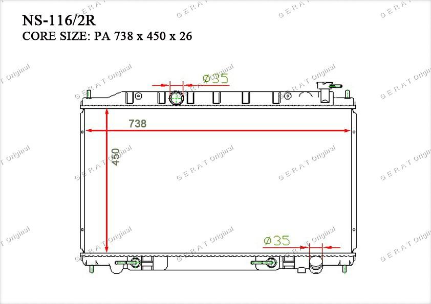 Радиатор основной 21460CA010