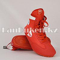Борцовки (обувь для борьбы) Green Hill GWB-3052 размеры 33-43 красно-белый