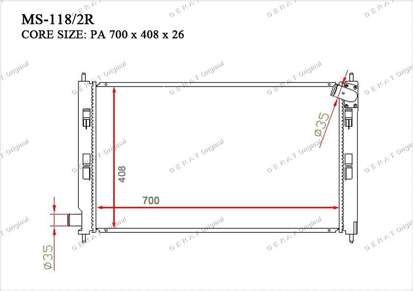 Радиатор основной 21460CG000