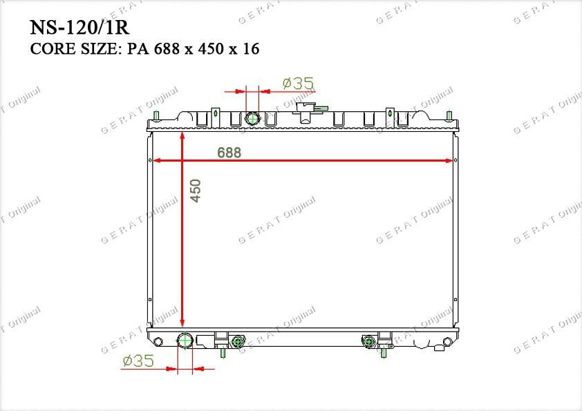 Радиатор основной 214608H900