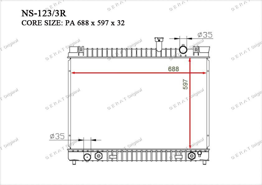 Радиатор основной 21460ZC21A