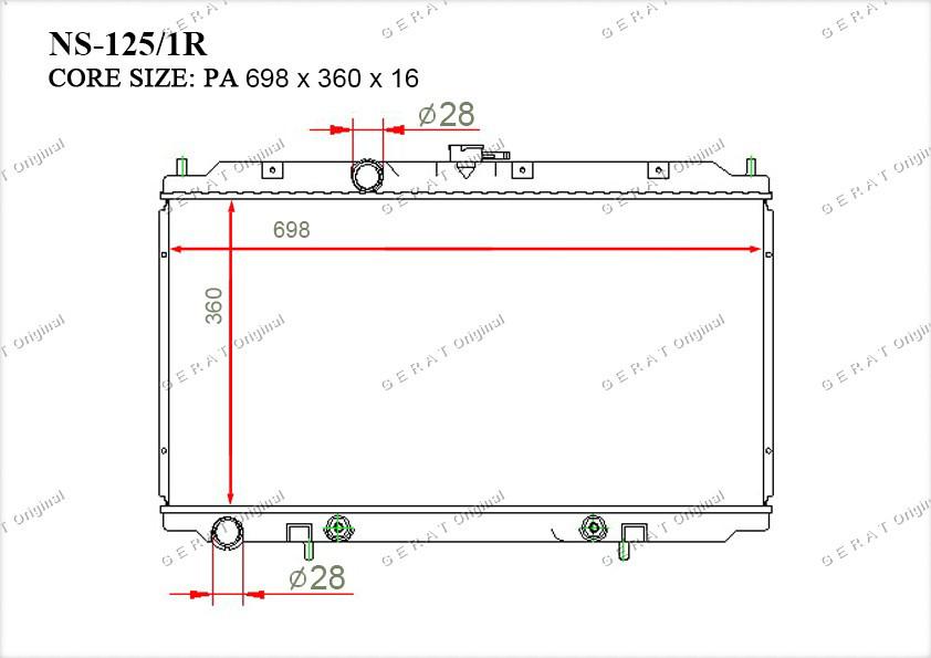 Радиатор основной 21460AV700