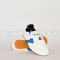 Обувь для тхэквондо (соги/степки) Yeienburl на липучке размеры 27-37 сине-белый