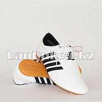 Обувь для таэквондо (соги/степки) TKD shoes со скрытой шнуровкой размеры 27-37 черно-белый