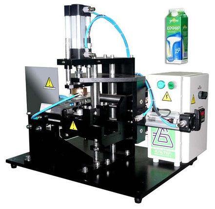 Устройство укупорки крышкой «АЛЬТЕР-05» картонной упаковки типа PURE PAK, 400 упак/ч, фото 2