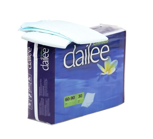 Пеленки впитывающие однораз. Daillee 60*90 30шт (5417)