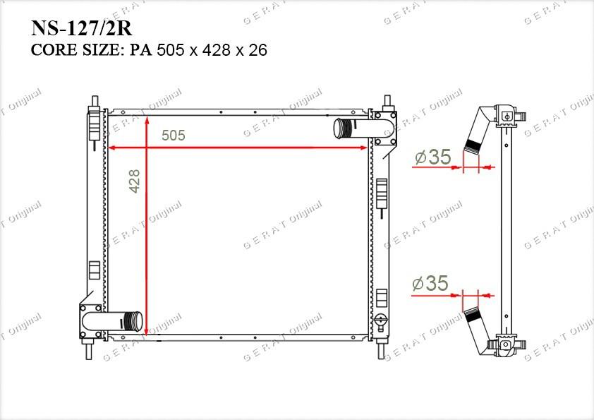 Радиатор основной 214101KC5A