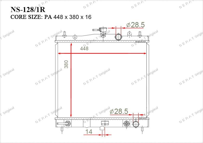 Радиатор основной 21460AX800