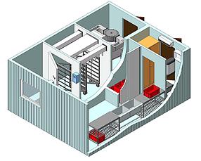 Модульный цех контейнерного типа для сушки и копчения рыбы (загрузка до 300 кг.)