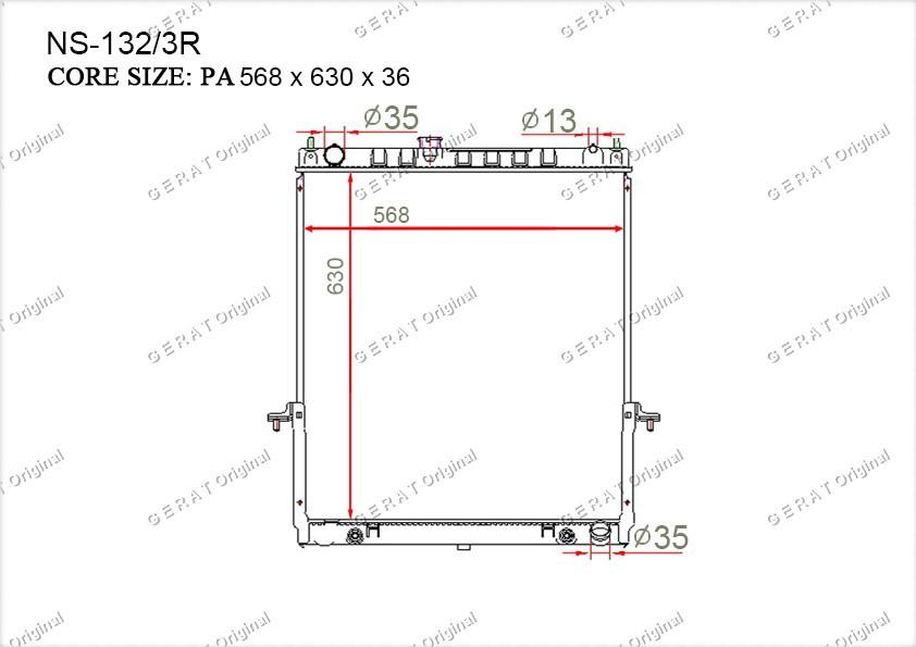 Радиатор основной 21460VC200
