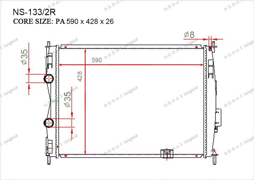 Радиатор основной 21400JD900