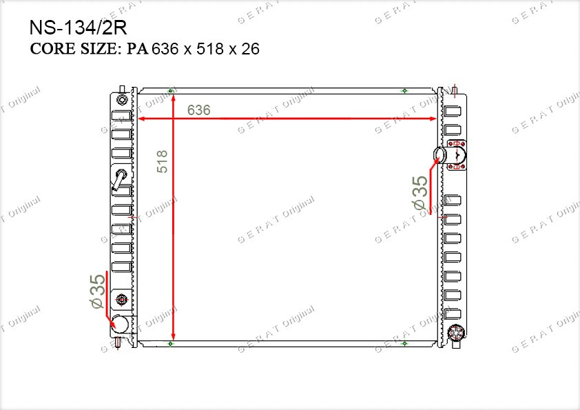 Радиатор основной 214601BH0A