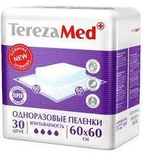 Пеленки впитывающие одноразовые TEREZAMED SUPER 60*60 упак 30шт (1801)
