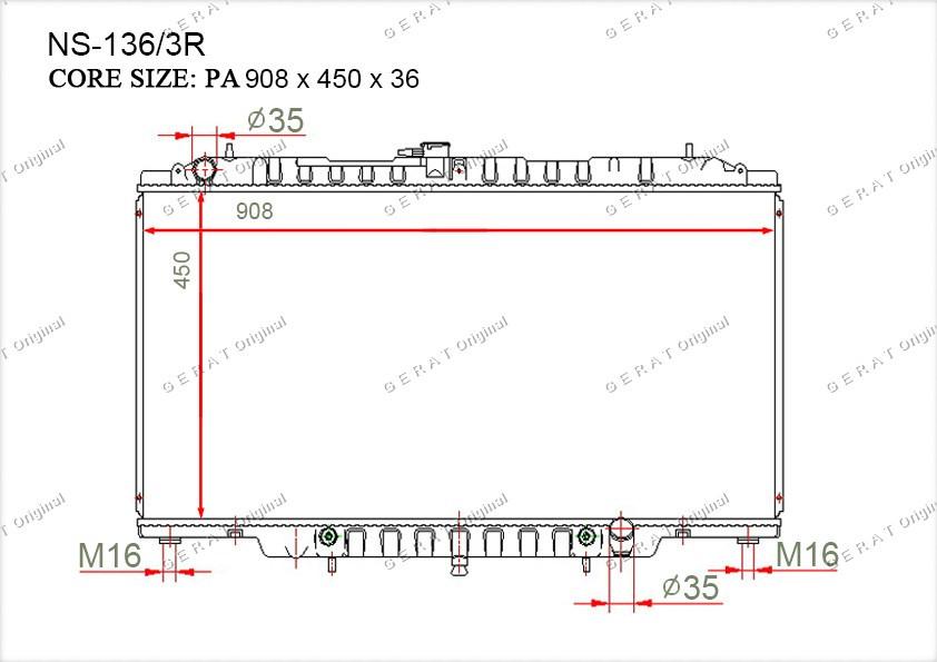 Радиатор основной 21460VB000