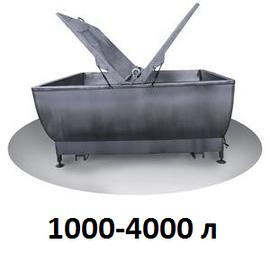 Ванны охладители молока открытого типа 1000-4000 л