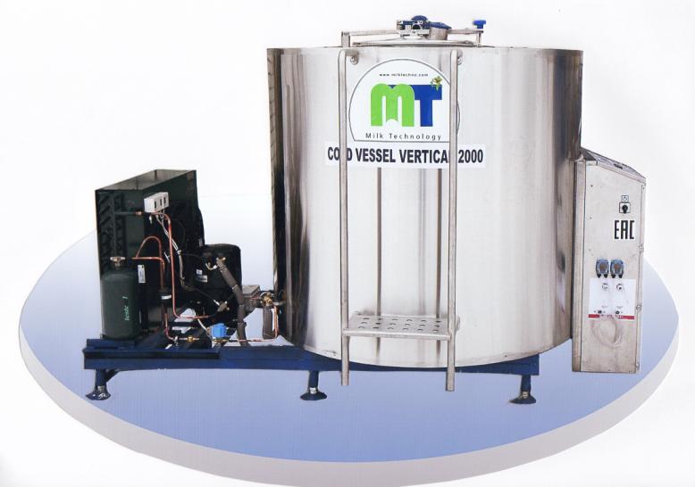 Охладитель молока закрытого типа Cold Vessel Vertical 1000 л