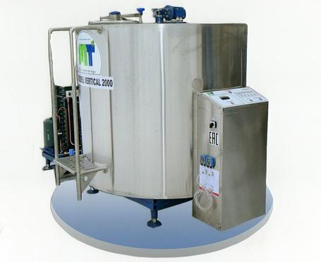 Охладитель молока закрытого типа Cold Vessel Vertical 1000 л, фото 2