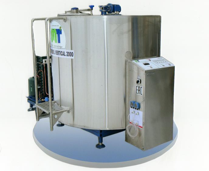 Охладитель молока закрытого типа Cold Vessel Vertical 1500 л