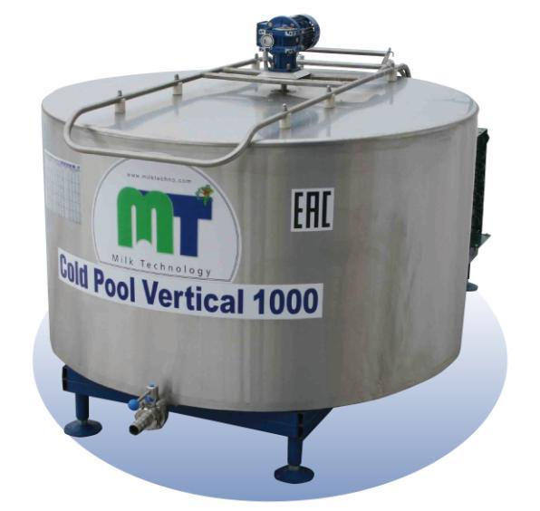 """Охладитель молока открытого типа """"Cold Pool Vertical"""" 1000 л"""