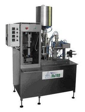 Полуавтомат розлива и упаковки жидких продуктов в картонную упаковку типа PURE PAK «АЛЬТЕР- 04» 500 упак/ч, фото 2