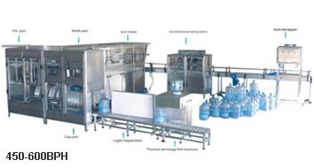 Оборудование для мойки, розлива и укупорки 19 л бутылей (400-600 бут/час)