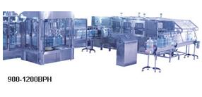 Оборудование для мойки, розлива и укупорки 19 л бутылей (900-1200 бут/час)
