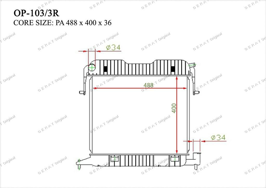 Радиатор основной TCR-0036/3R