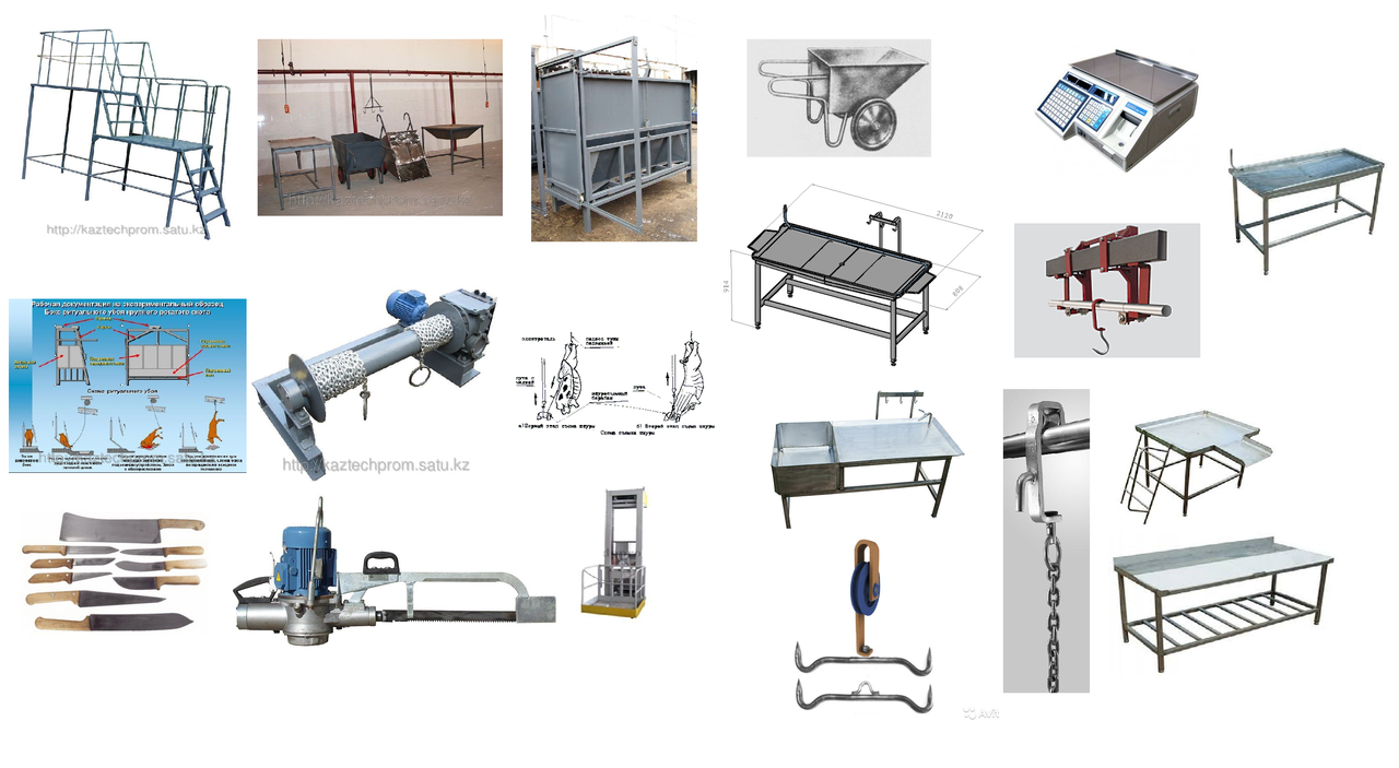 Оборудование для бойни до 20 КРС/смену, до 4 тонн мяса на кости в смену