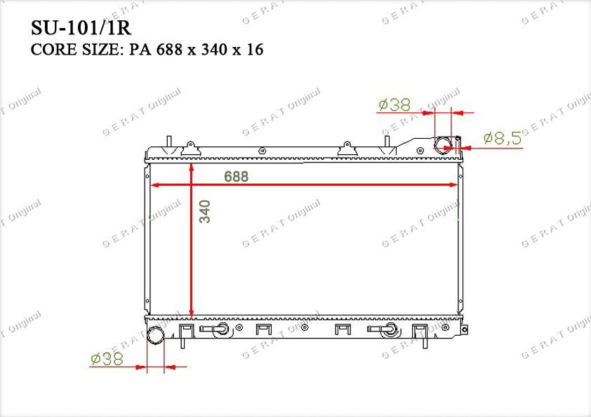 Радиатор основной 45111FC320