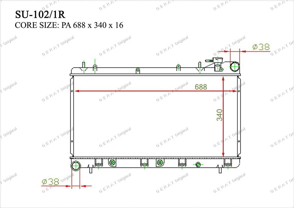 Радиатор основной 45199FA030