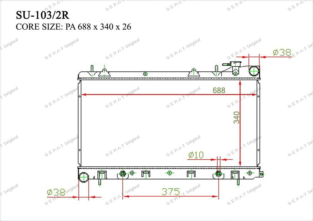 Радиатор основной 45111FC340