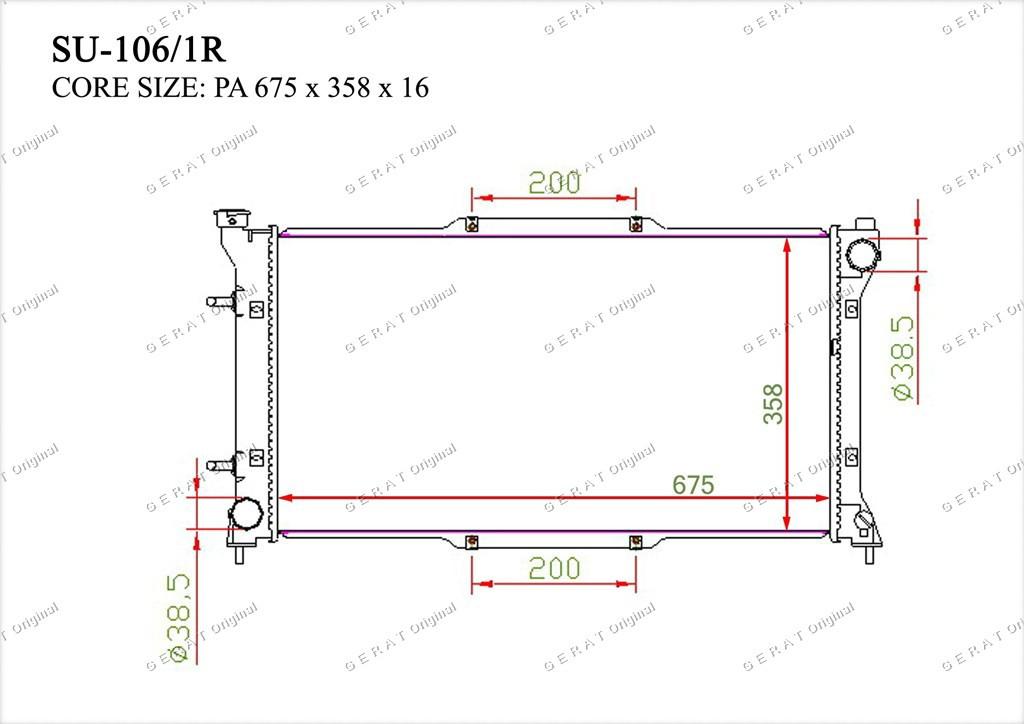 Радиатор основной 45111AE001
