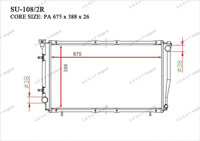 Радиатор основной 45199AC250